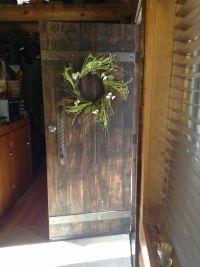 Rustic front door | Log Cabin | Pinterest