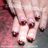 Fall nail design. | Nails: Fall | Pinterest
