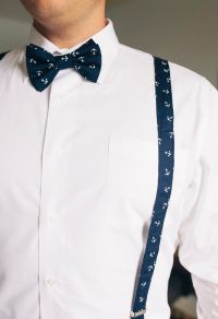 Nautical bow tie for groom