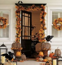 Wonderful fall front door decor   Halloween   Pinterest