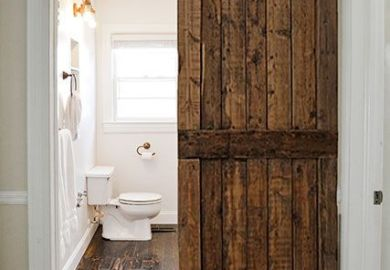 Sliding Wood Bathroom Door