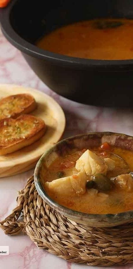 Comounamanzana •  Receta de burrida ligure. Sopa de pescado italiana