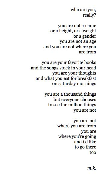 You are a thousand things. Love love love.