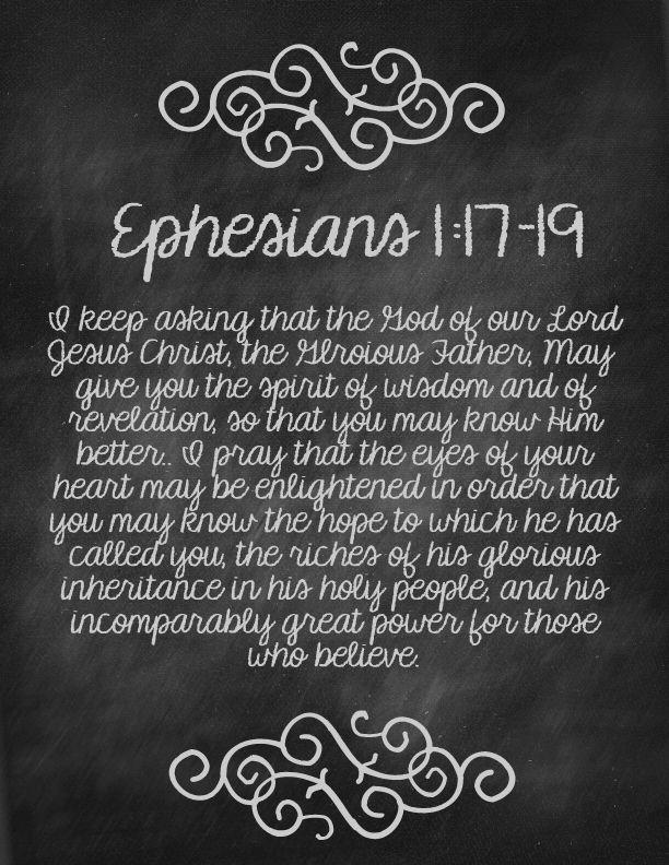Ephesians 1:17-19 U 1/6/15