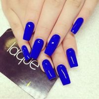 Royal blue nail art   Baby King   Pinterest