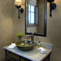 Bathroom sink, raised bowl, simplicity