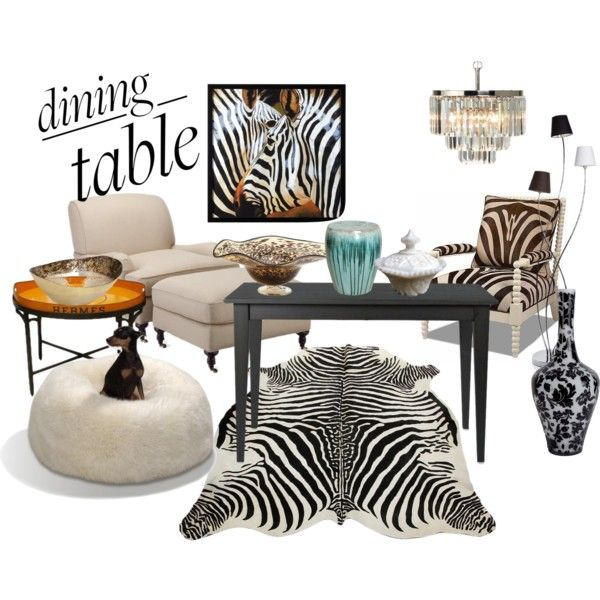 PINTEREST Animal Print Dinning Table