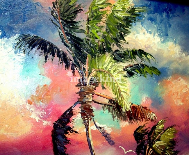 Florida Palm Trees Paintings