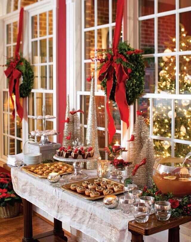 Christmas Dessert Display Table Noel Pinterest