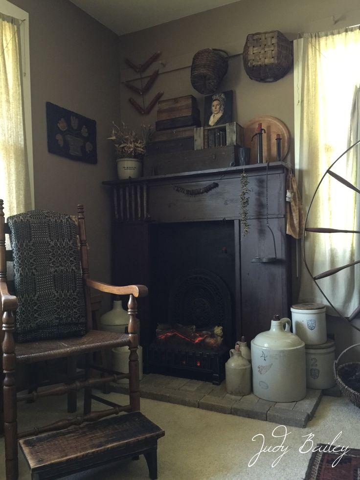 1000+ ideas about Primitive Fireplace on Pinterest