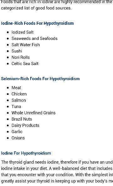 foods for hypothyroidism my health pinterest
