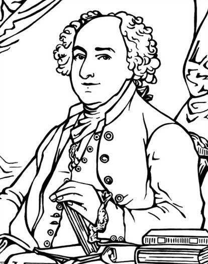 John Adams Coloring Sheet Coloring Pages