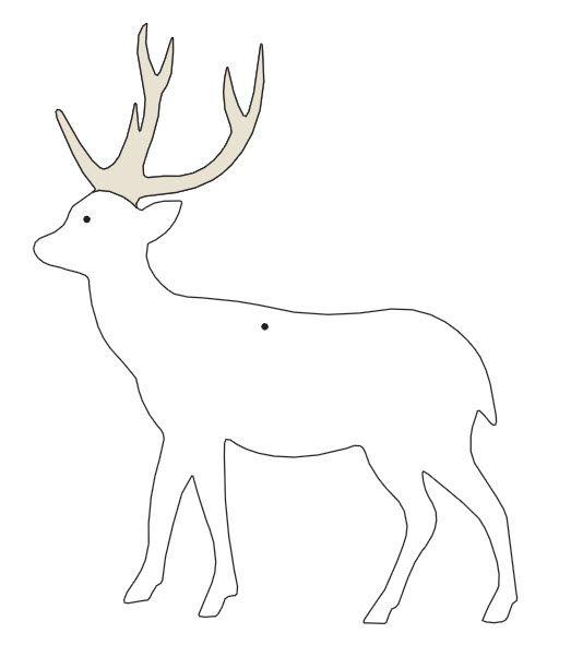 Cardboard Reindeer Body Template