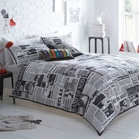 Newspaper bedding set