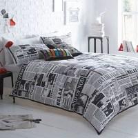 Newspaper bedding set | Aidans room | Pinterest