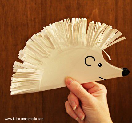 paper hedgehog for scissor practice -- too cute