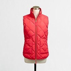 Factory quilted puffer vest