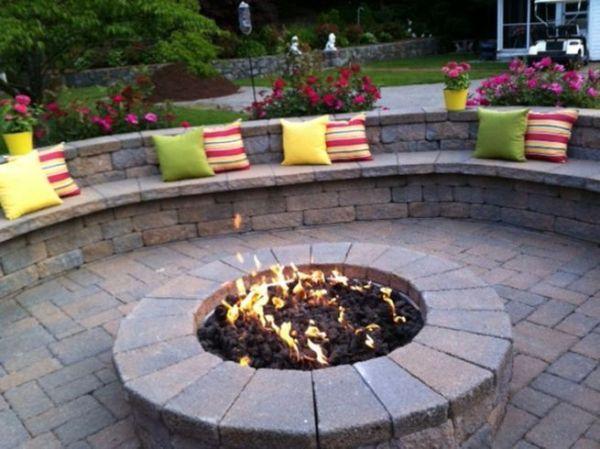 paver patio with fire pit design ideas Paver Patio Designs With Fire Pit | Landscape Ideas