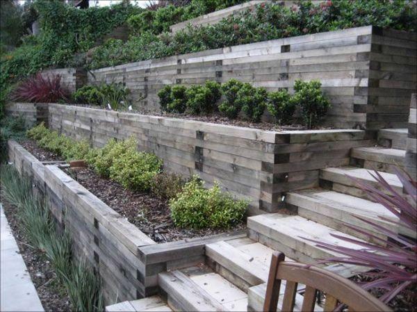 landscape ideas steep backyard