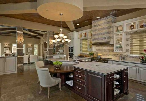 Kitchen island breakfast nook  For the Home  Pinterest