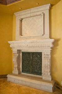 Cantera fireplace | Fireplaces | Pinterest