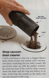 clean a clogged shower drain | shit to clutter the house ...