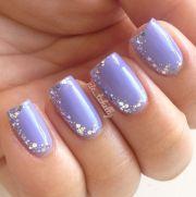 lavender nails beautiful wedding