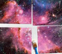 The gallery for --> Galaxy Painting Diy