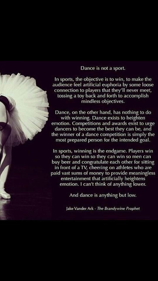 Dance Is A Sport Quotes QuotesGram