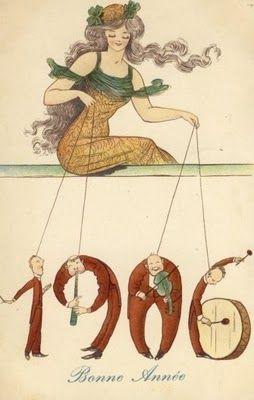 Vintage 1906 New Year Postcard