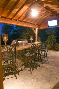 Outdoor bar. Only need to add fireplace.