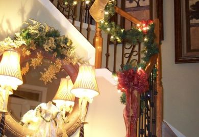 Ideas About Christmas Stairs Decorations On
