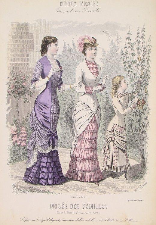 Victorian Fashion Plate 1880.