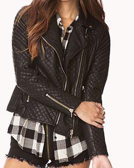 (Prix mini!) Blouson en faux cuir, 56$ chez Forever21 Modetrend 2014: Blouson Jacken (Inspirationen)
