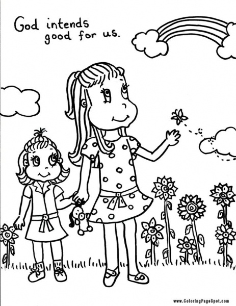 God Is Good Sheets Coloring Pages