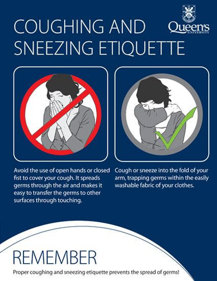 Coughing and Sneezing Poster  School  Pinterest