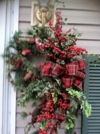 My front door Christmas wreath! | Work - winter | Pinterest