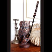 Harry Potter OWL Wand Holder, Handmade and finished with a ...