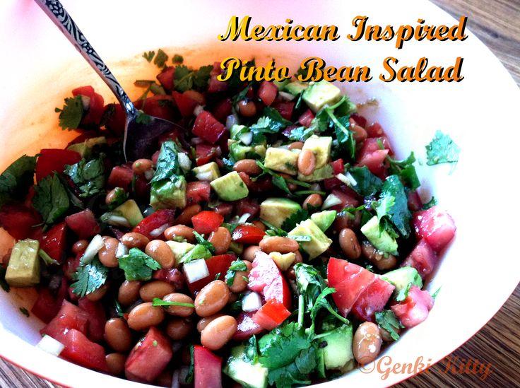 Vegan Mexican Inspired Pinto Bean Salad Recipe