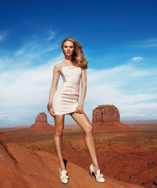 Candice Swanepoel & Terry Richardson for Harpers Bazar - Stunning mini dress - she is gorgeous