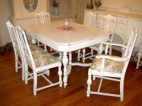 Dining Table: Shabby Chic Dining Table And Chairs