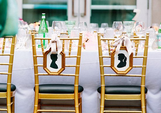 Silhouette Wedding Chivari Chair Decor