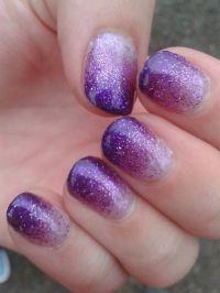 Purple glitter gel nails by Sophie. | Nails | Pinterest