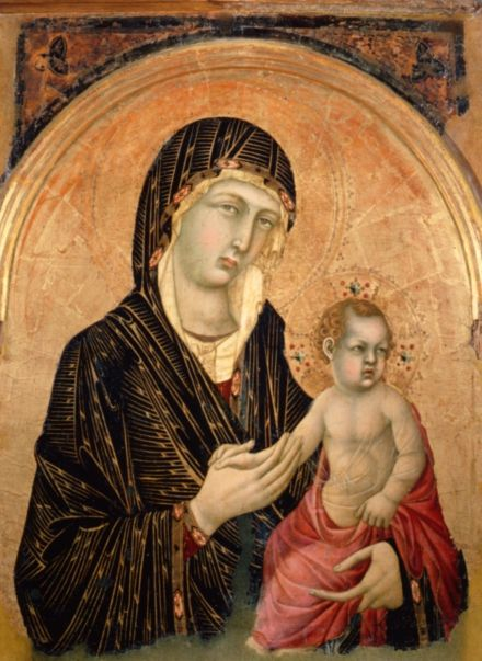 Simone Martini  Madonna with Child 1300-1310 Inv. 583  tempera on board 88 x 57 cm Siena, Pinacoteca Nazionale