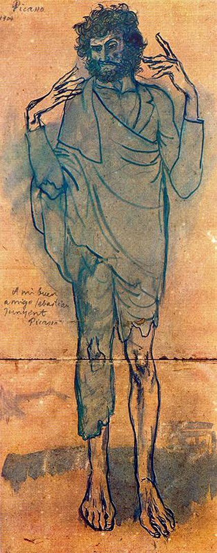 The fool - Pablo Picasso 1904