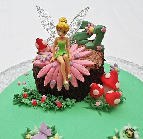 Tinkerbell fairy birthday cake