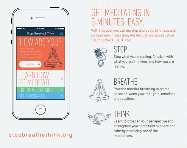 Stop, Breathe & Think: A New Meditation App To Boost Compassion And Creativity | via FastCoCreate