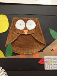 Paper plate owl | fall preschool crafts | Pinterest