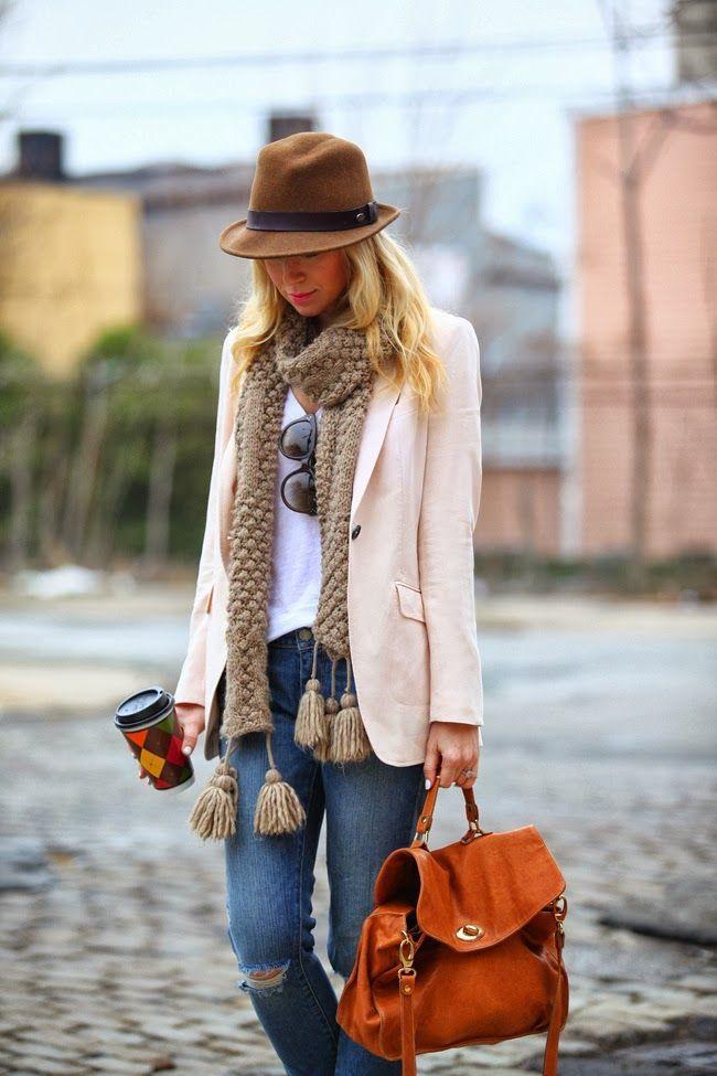 fall look - blazer & jeans