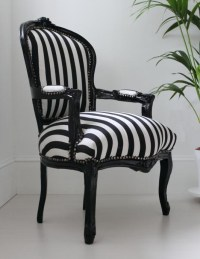 Black and White Striped Chair | Fashionable Interiors ...